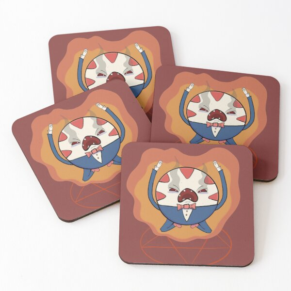 Peppermint Butler Coasters (Set of 4)