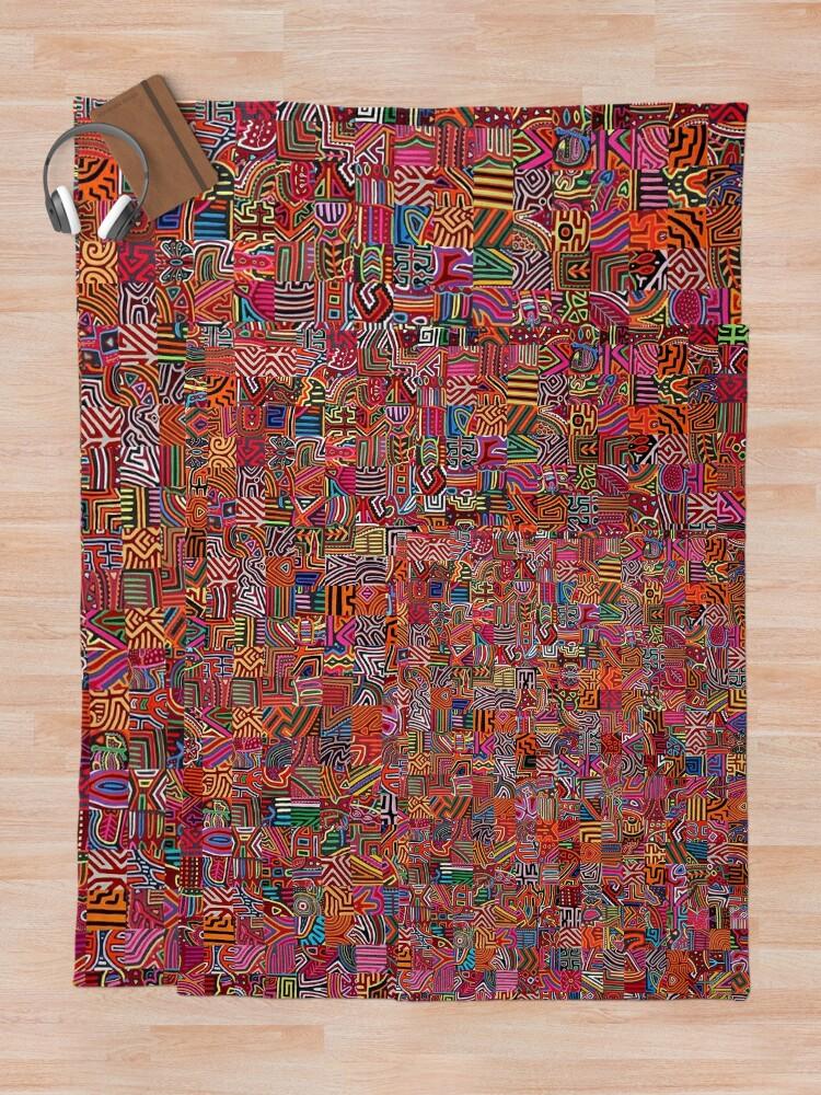 Alternate view of Molas Throw Blanket
