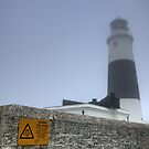 Alderney Lighthouse in the Fog. The Fog Horn is to be Finally Silenced by NeilAlderney