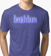 Beach Bum Blue Tri-blend T-Shirt