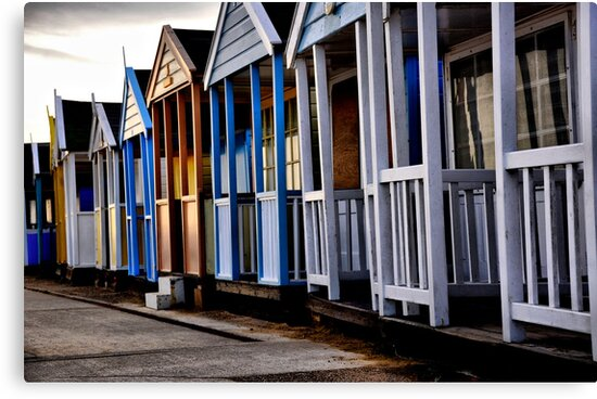 Beach Huts closed for winter by Karen  Betts
