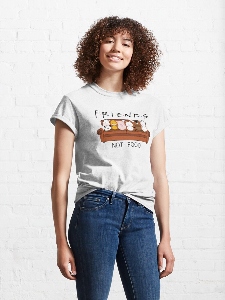 Alternate view of Friends Not Food Classic T-Shirt