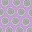 Mandala Purple by Meaghan Roberts