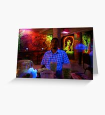 The Black Light Expriment Greeting Card