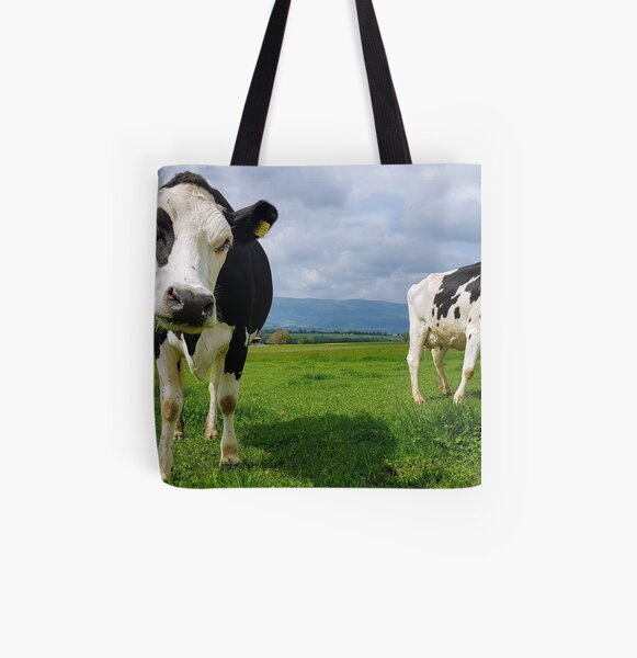 Cows All Over Print Tote Bag