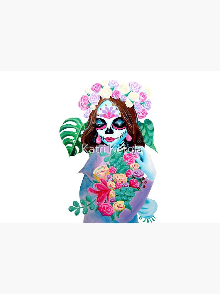 Sugar Skull Girl with Flowers - La Catrina   by Almonda