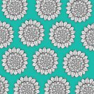 Mandala Teal by Meaghan Roberts