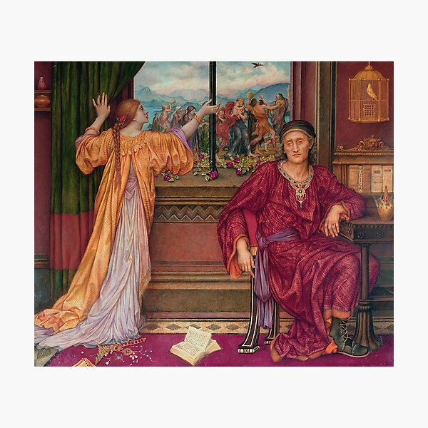 The Gilded Cage, by Evelyn De Morgan Photographic Print