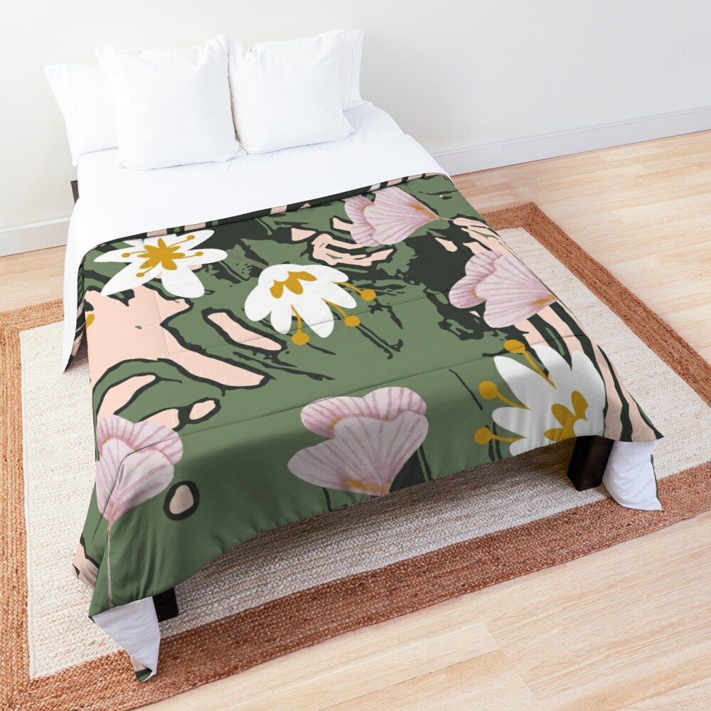 Botanical Blush  Comforter