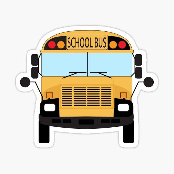 Yellow School Bus Pattern Sticker