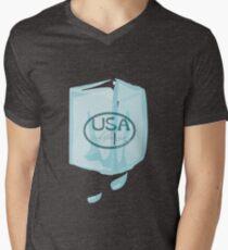 usa california ice cube tshirt by rogers bros Mens V-Neck T-Shirt