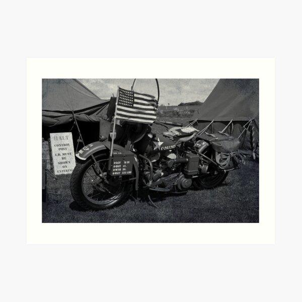 Harley-Davidson WLA Art Print