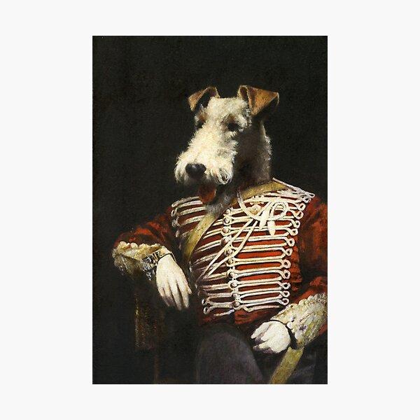 Victorian Fox Terrier In Uniform Photographic Print