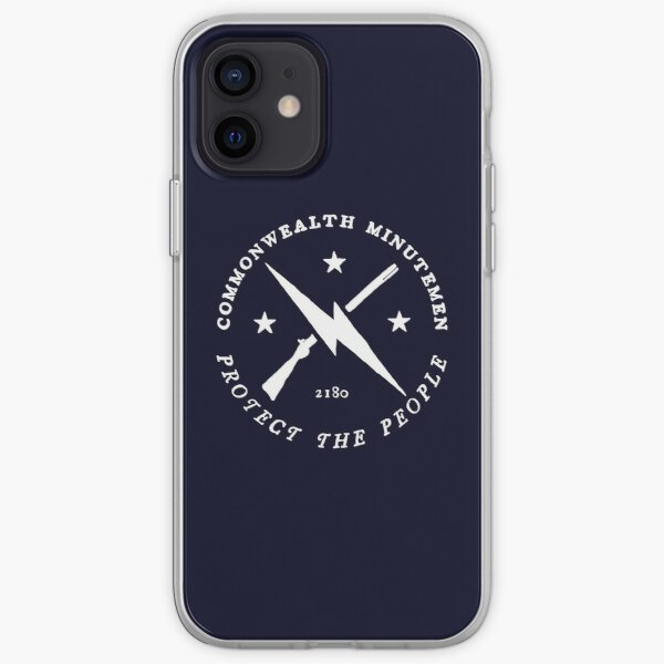 Commonwealth Minutemen | Fallout 4 Faction Logo | White Emblem iPhone Soft Case
