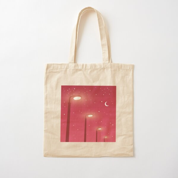 Pink Nights and Street Lights Cotton Tote Bag