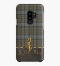 TARTAN LEATHER JE SUIS PREST Case/Skin for Samsung Galaxy