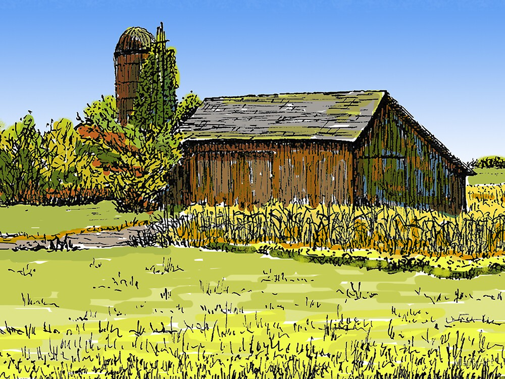 Old Barn, Merrillville, IN by MarkArt