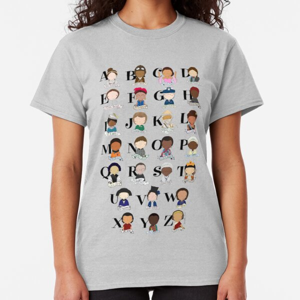 Awesome Woman Alphabet Classic T-Shirt