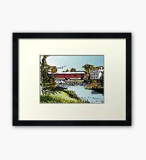 Redman Bridge, Indiana Framed Print