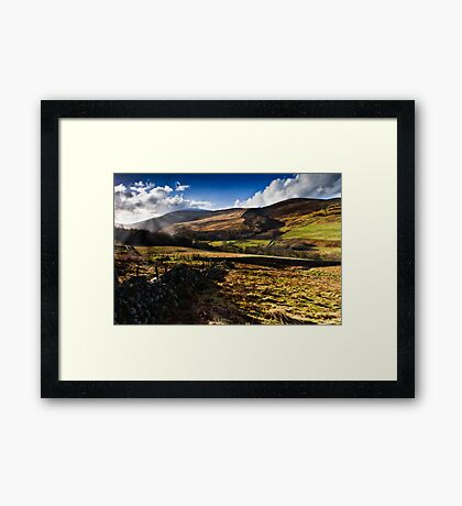 The Cheviot, Northumberland National Park. UK Framed Print