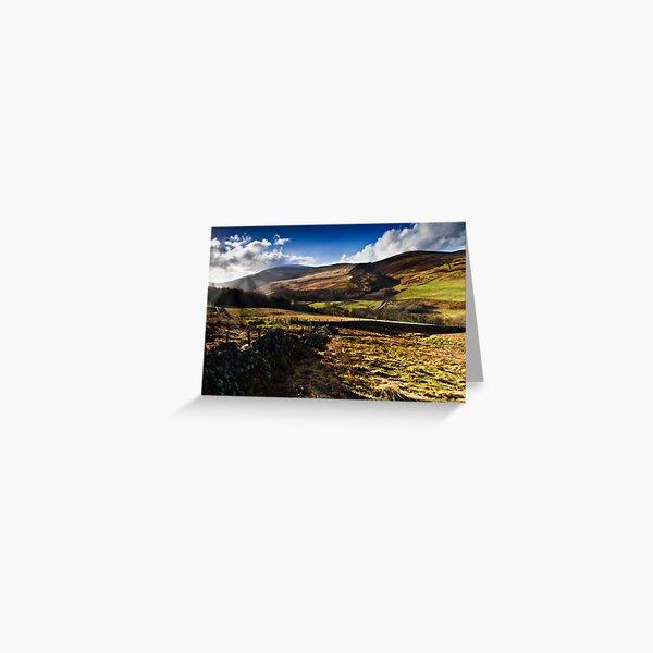The Cheviot, Northumberland National Park. UK Greeting Card