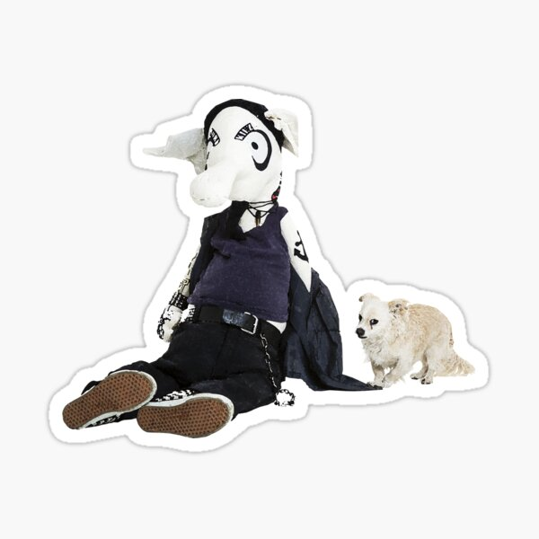 """Pig anteater Kalle and dog """"Dio"""" - faith and truth Sticker"""