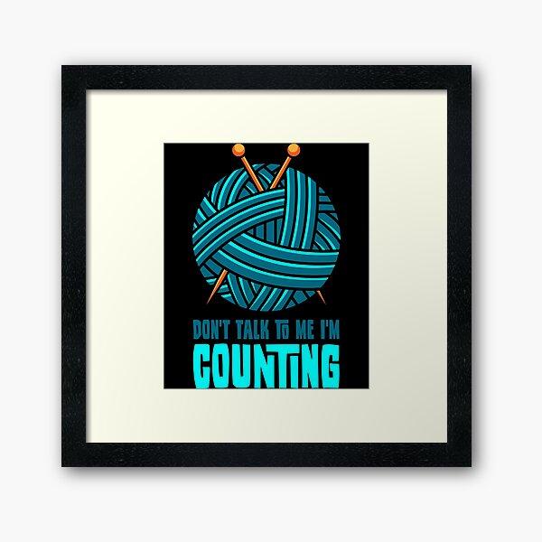 Knitting counting Framed Art Print