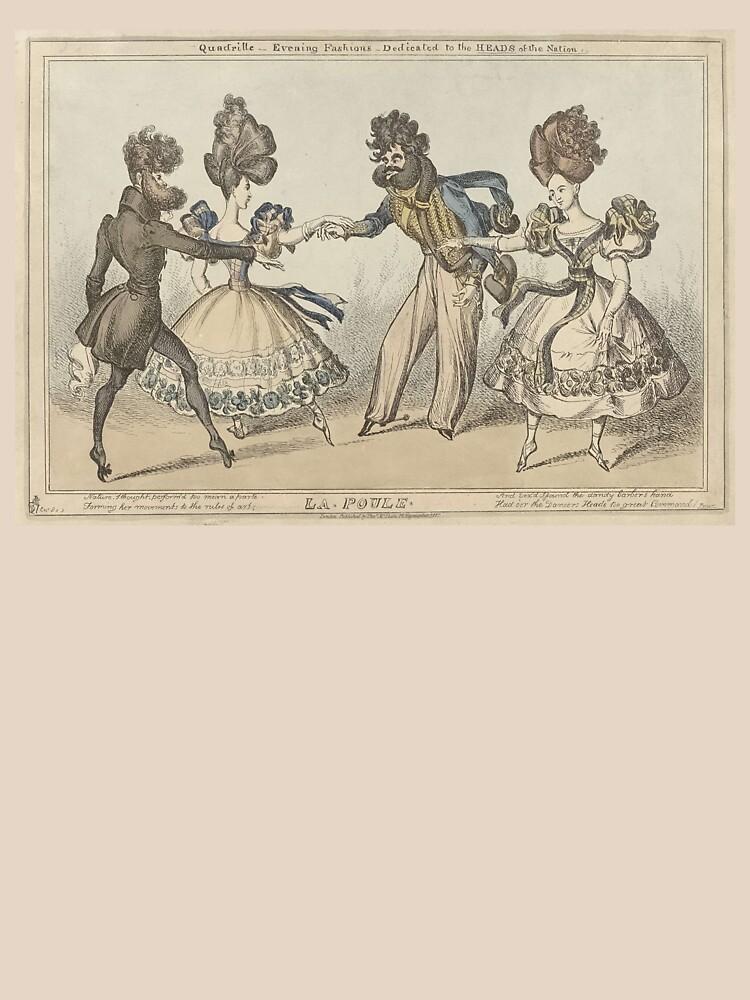 Cartoon aimed to mock funny hair styles in 1827 by liesjes