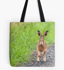 Brown Hare, Lancashire Mosses Tote Bag