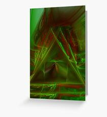 Vertical Movement in Green Greeting Card