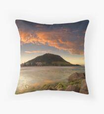 Mount Mauao Rust Dusk Throw Pillow