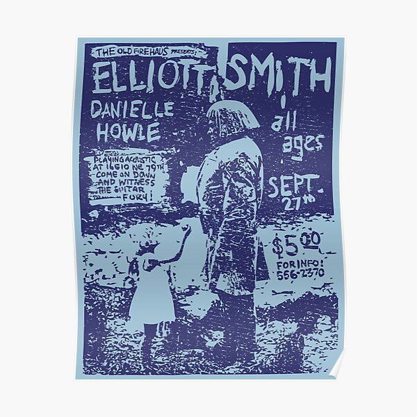 Elliott Smith Live (distressed design) Poster