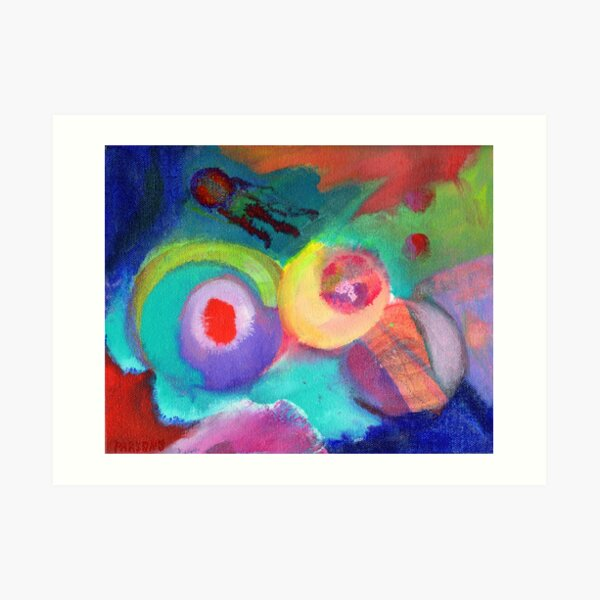 Escape. An abstract expressionist acrylic painting by Pamela Parsons Art Print