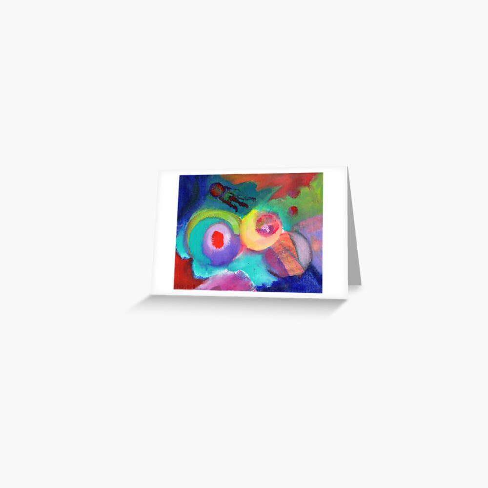 Escape. An abstract expressionist acrylic painting by Pamela Parsons Greeting Card