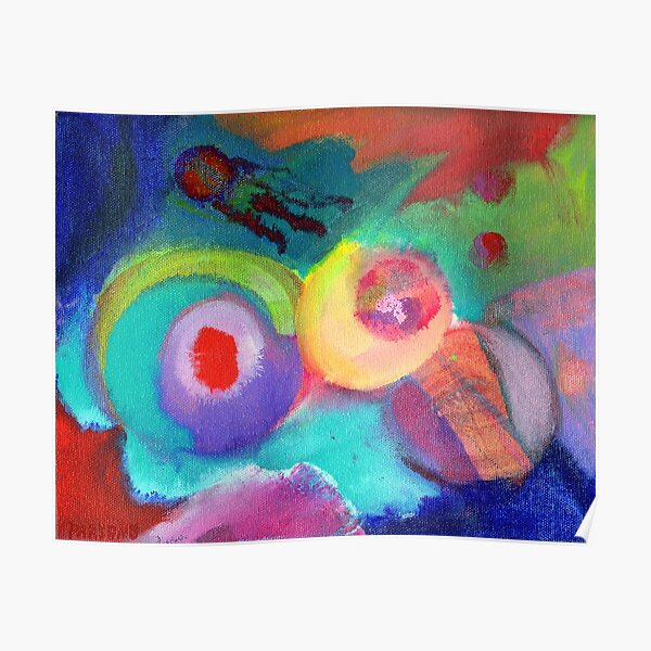 Escape. An abstract expressionist acrylic painting by Pamela Parsons Poster