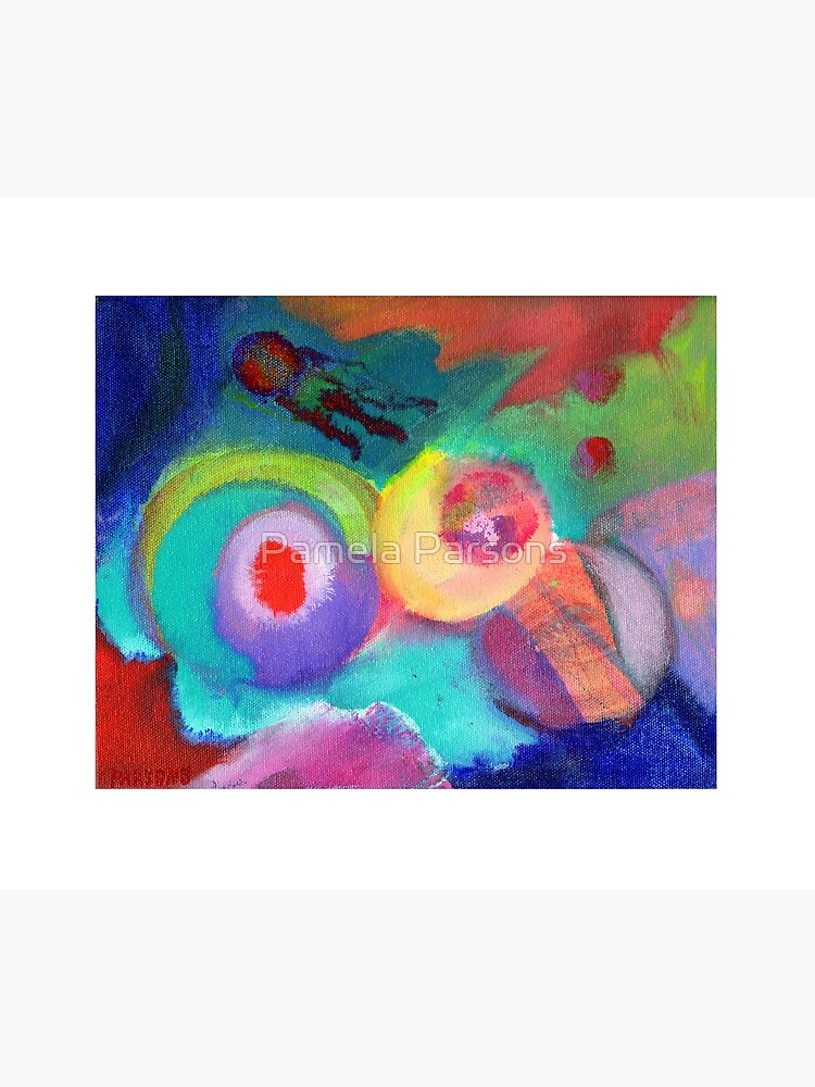 Escape. An abstract expressionist acrylic painting by Pamela Parsons by parsonsp