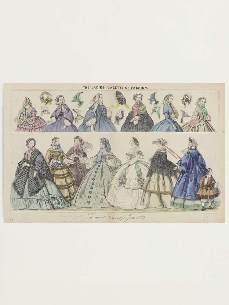 Alternate view of The Ladies Gazette of Fashion Photographic Print