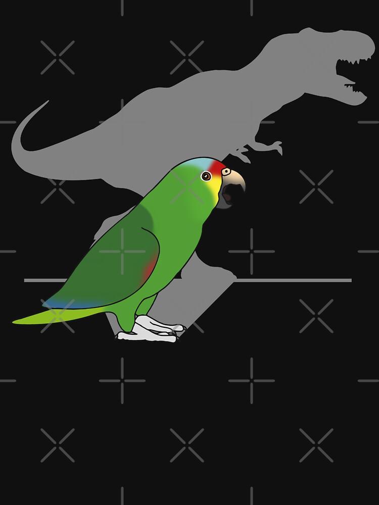 t-rex red lored amazon parrot by FandomizedRose