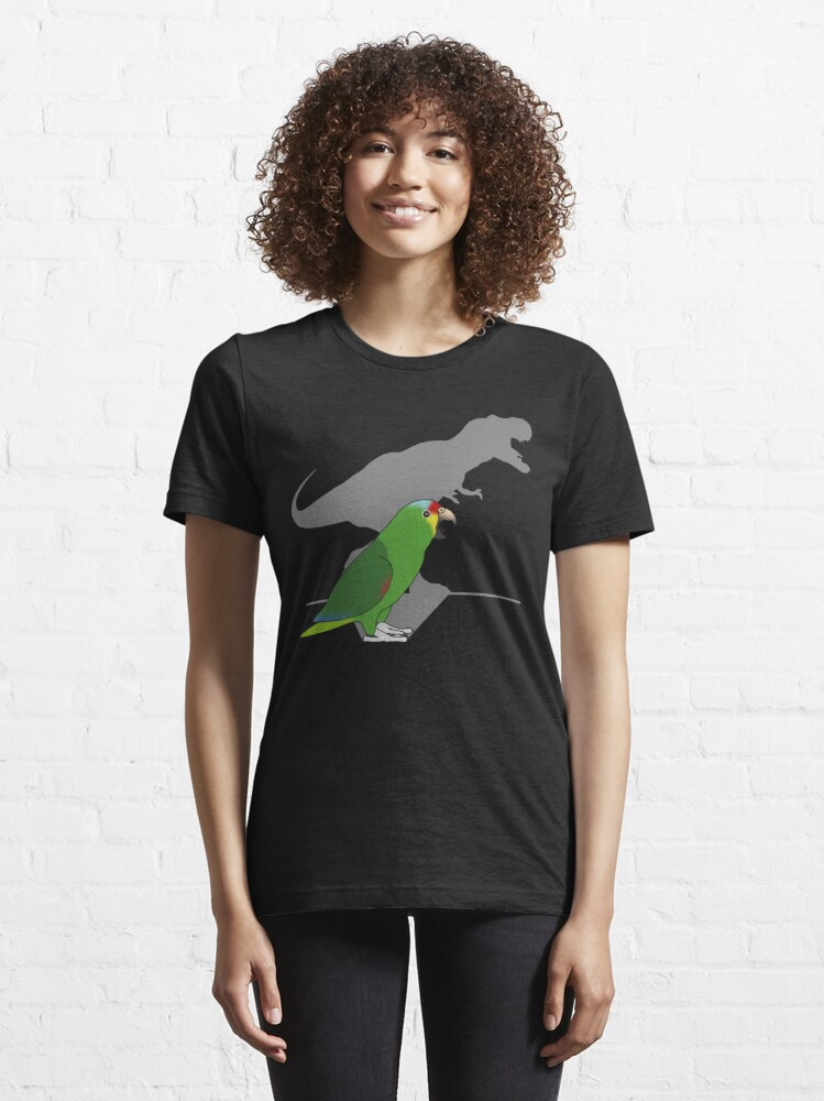 Alternate view of  t-rex red lored amazon parrot Essential T-Shirt