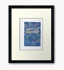 25th Anniversary Framed Print