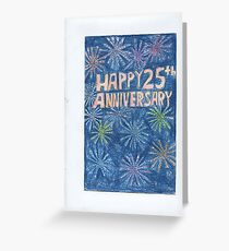 25th Anniversary Greeting Card