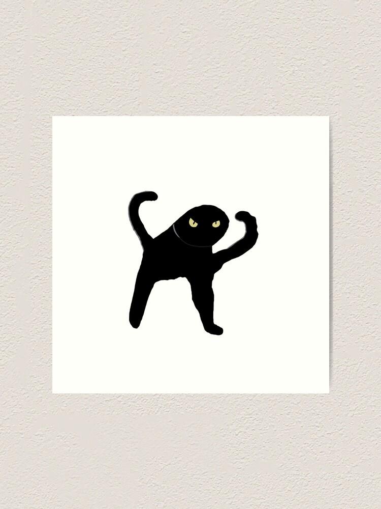 Schwarze Katze Meme Kunstdruck Von Eggcelantarts Redbubble