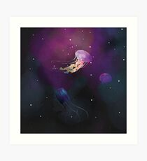 Space Jellies Art Print