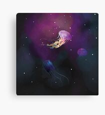 Space Jellies Canvas Print