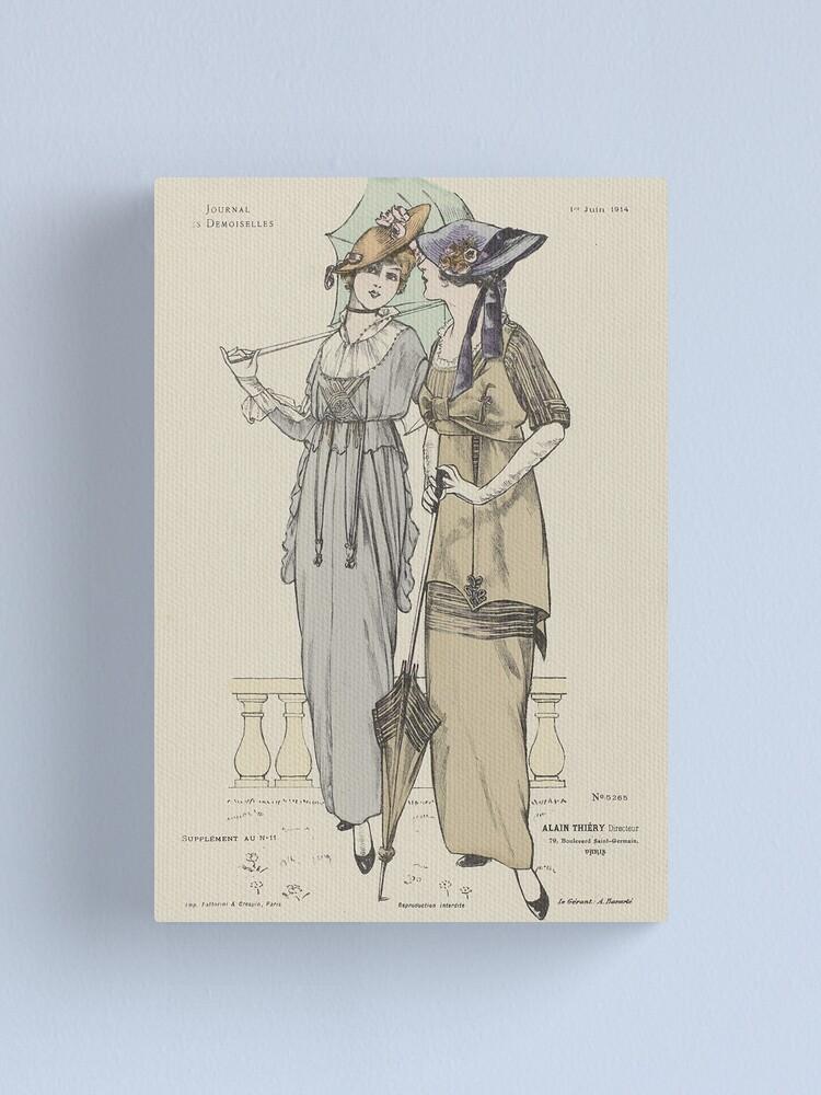 Alternate view of Journal des Demoiselles 1914 Canvas Print