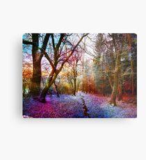 Colorful Enchanted Winter Forest Landscape Metal Print