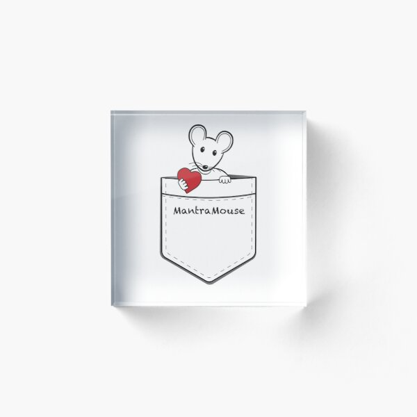 MantraMouse® Pocket of Love Acrylic Block