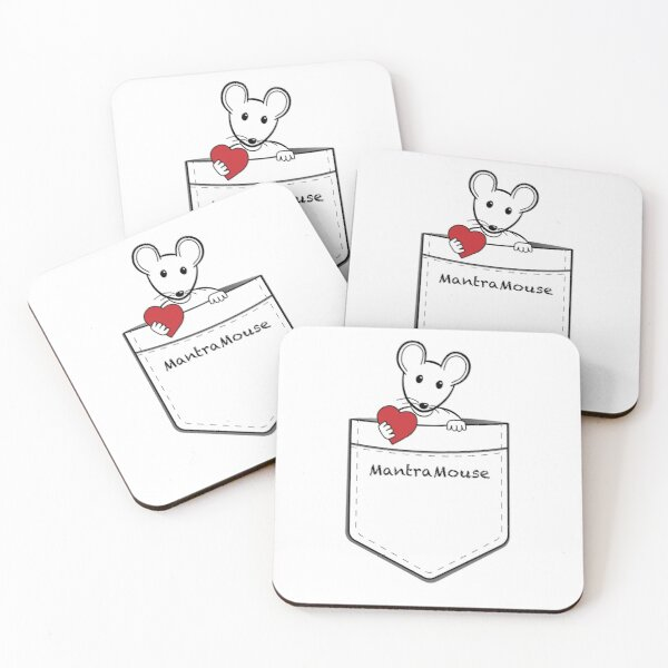 MantraMouse® Pocket of Love Coasters (Set of 4)
