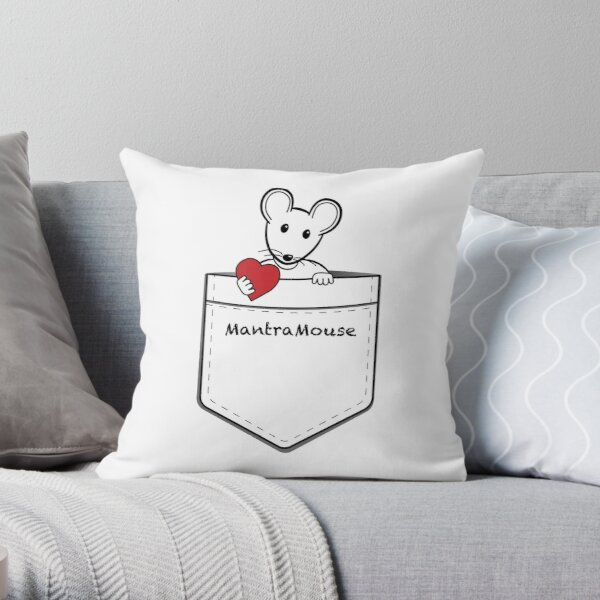 MantraMouse® Pocket of Love Throw Pillow