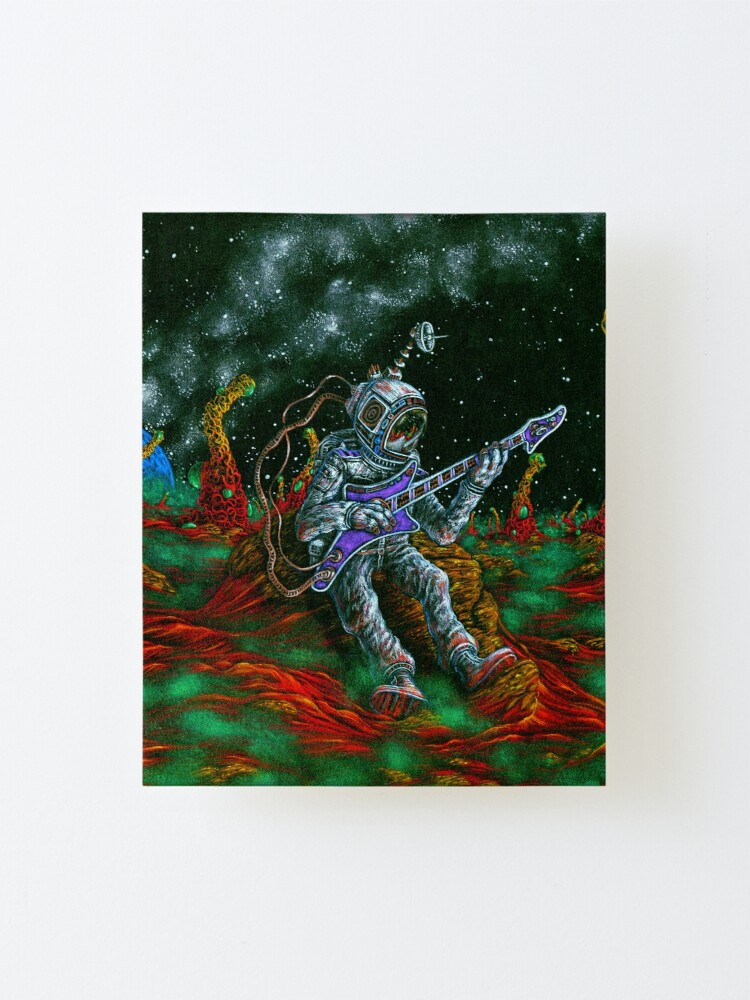 Alternate view of MUSIC IS HIS OXYGEN! Mounted Print